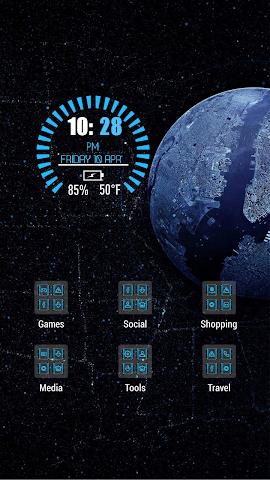 android Black dark landscape theme Screenshot 2