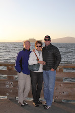 Photo: Jerry, Joyce, and Jeff at the end of the pier.
