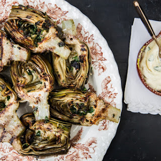 Grilled Artichokes with Lemon Garlic Aioli