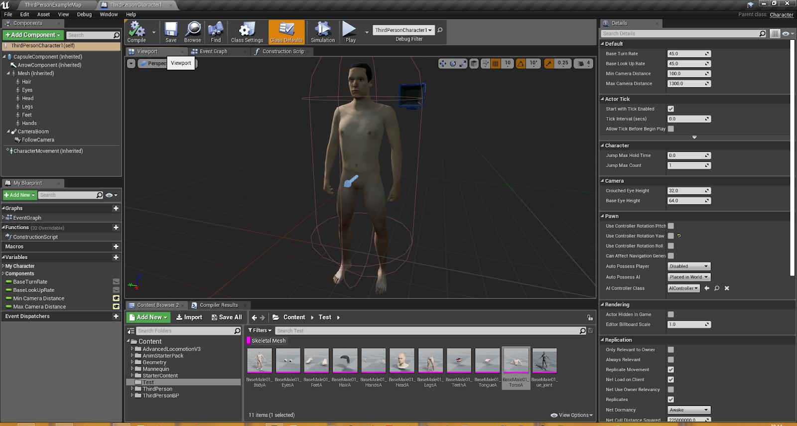 Rigging the Make Human mesh to the Epic Skeleton in Blender