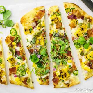 Tex-Mex Charred Corn, Bacon & Jalapeno Pizza.