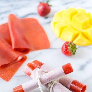Strawberry Mango Fruit Leather.