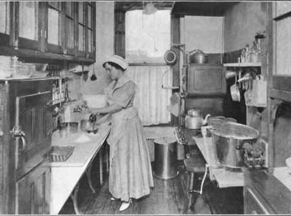 Mrs. Allen in Her Own Kitchen. Illustrated From Photographs By T L. Allen And...