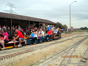 Photo: Leaving the station with conductor Rick White    2013-1116 DH3