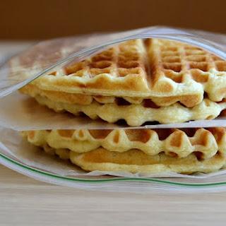 Homemade Frozen Waffles.