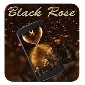 Luxury Gold Black Rose Theme
