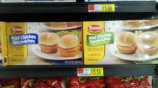 Photo: Hey, found the Tyson Mini Chicken Sandwiches in the freezers with doors!