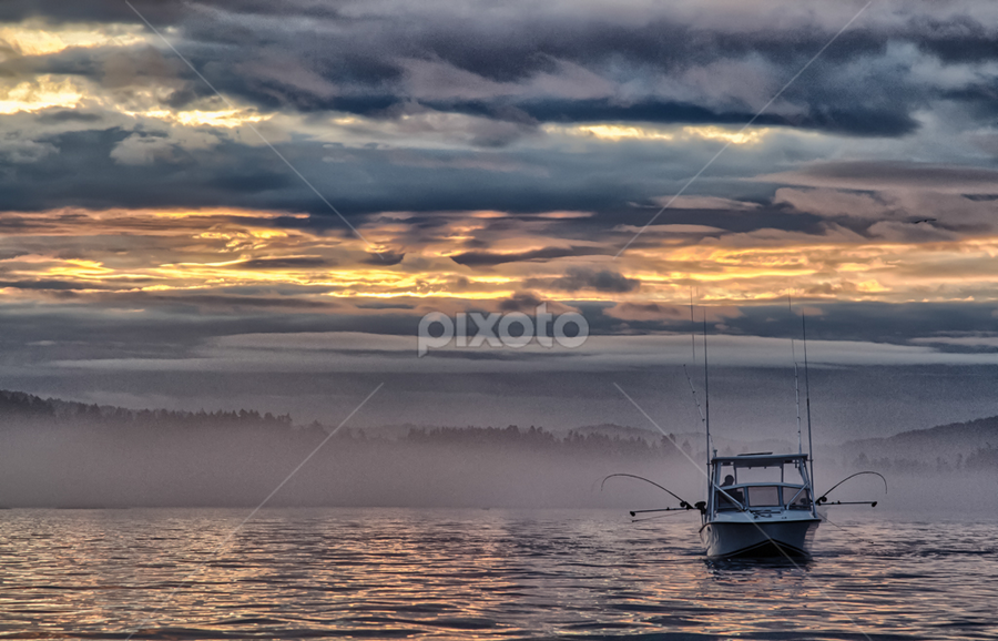 Westcoast Sunrise by Bob Ianson - Landscapes Waterscapes ( sky, sooke, fishing, sunrise, westcoast )