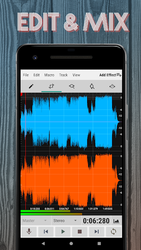 WaveEditor for Androidu2122 Audio Recorder & Editor 1.85 screenshots 1