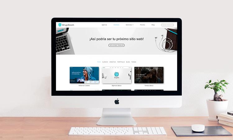 diseño web portfolio proyectos pagina web