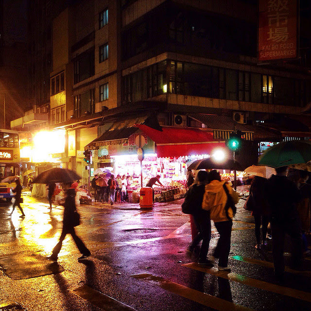 Late Night, Fruit Stand, hong kong, street,  深夜, 水果店