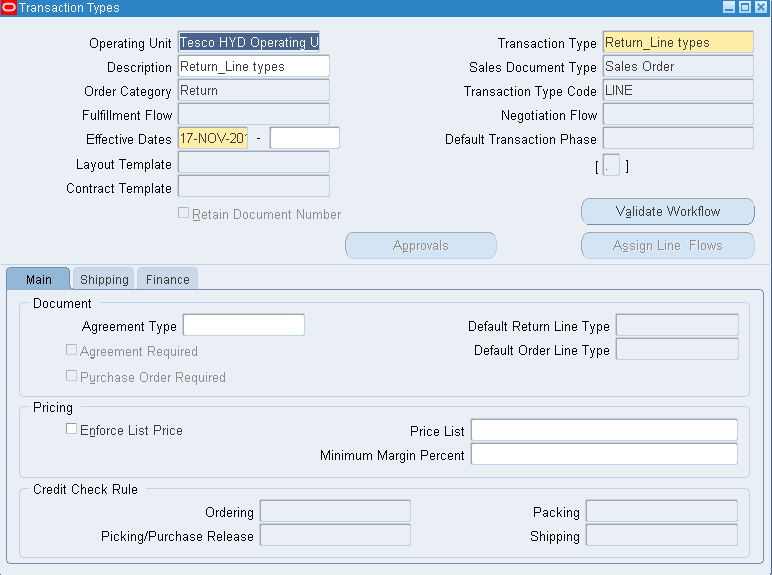 oracle masterminds rma  return material authorizations