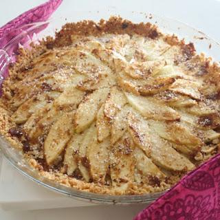 Coconut Apple Crumble Pie.