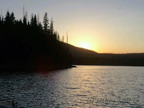 Photo: Grateful for sunsets on lakes.