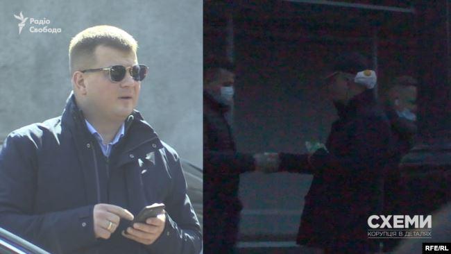 Це – Михайло Царенко, той же чоловік, якого журналісти вже бачили під МОЗ раніше, із захисною маскою на потилиці
