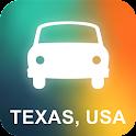 Texas, USA GPS Navigation icon