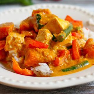 Red Thai Curry with Kabocha Squash.