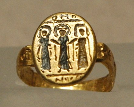 byzantine wedding band representing christ uniting the bride and groom - History Of Wedding Rings