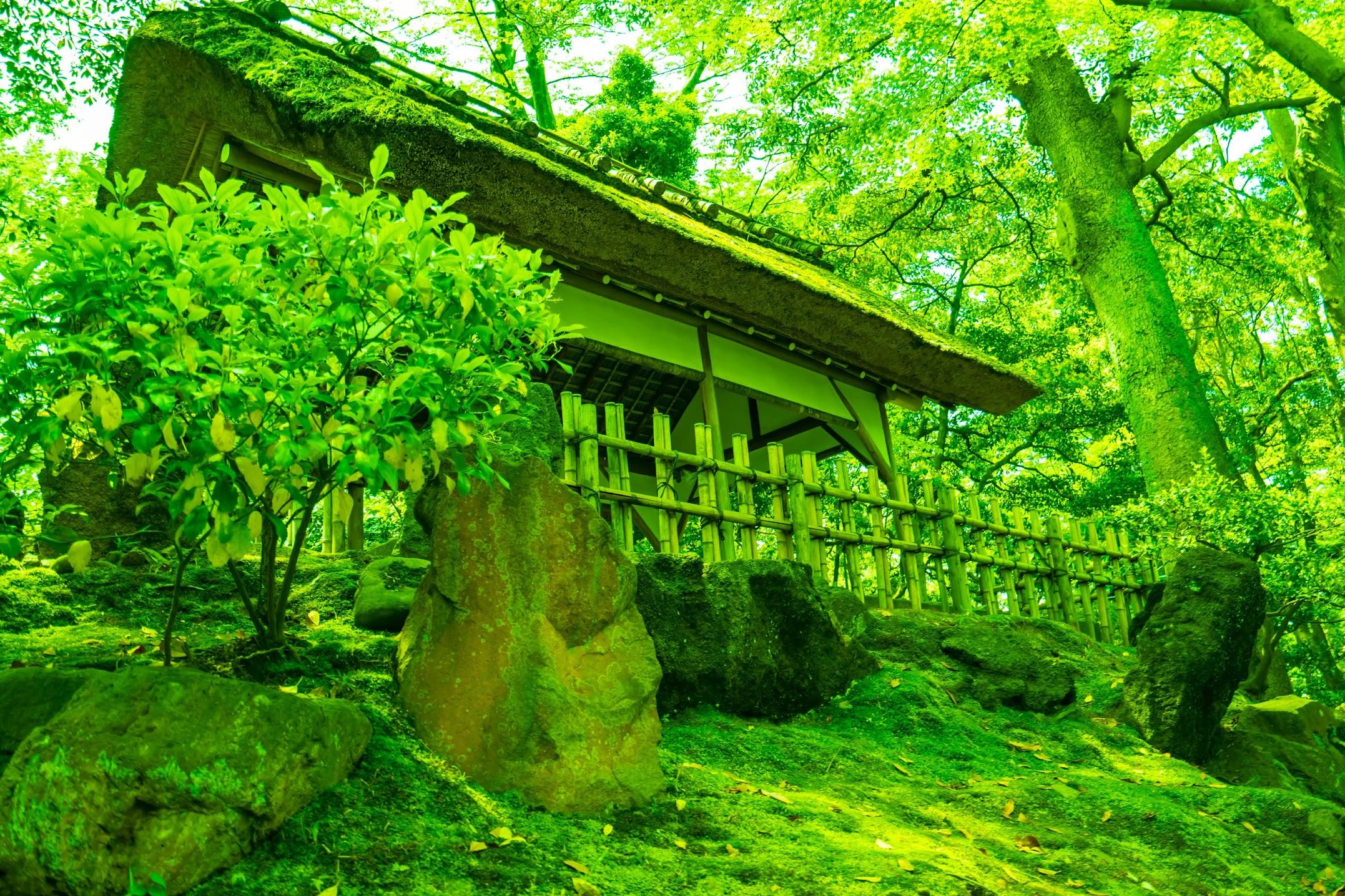 Kenrokuen Garden Yamazaki-yama Hill