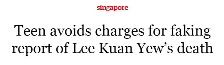 Teen avoids charges for faking report of Lee Kuan Yew's death   TODAYonline.png