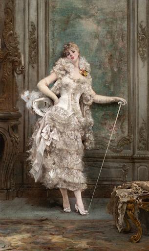 Georges Jules-Victor Clairin - Portrait d'une Actrice