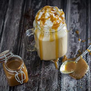 Salted Caramel Frappuccino Milkshake.