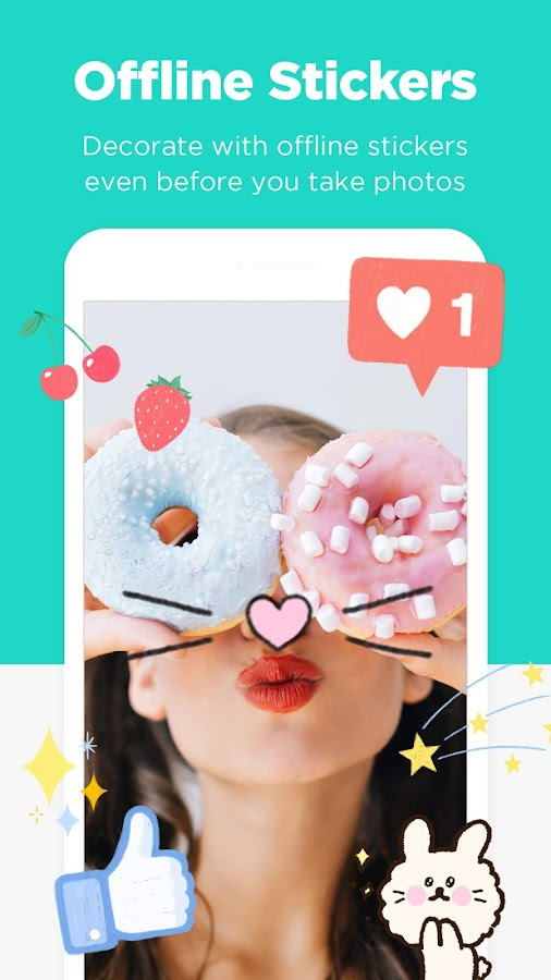 Candy Camera - selfie, beauty camera, photo editor- screenshot