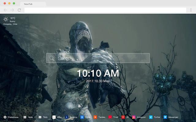 Bloodborne Popular Games HD New Tabs Theme