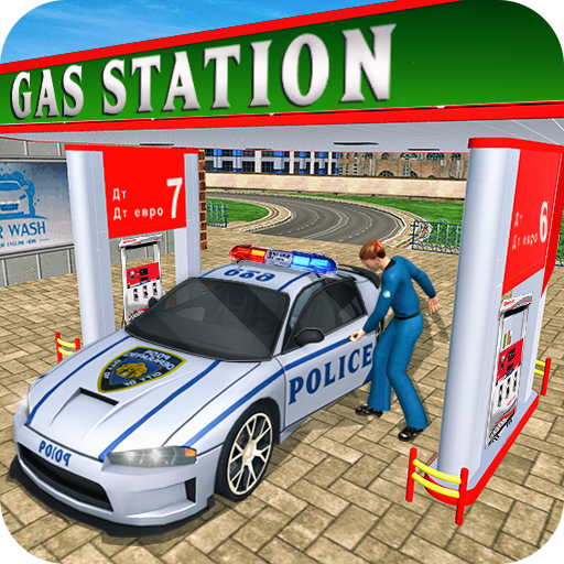 Gas Station Police Car Services: Gas Station Games (game)