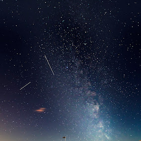 by Andrew Percival - Landscapes Starscapes ( scotland, stars, castle, long exposure, landscape, nightscape, milky way )