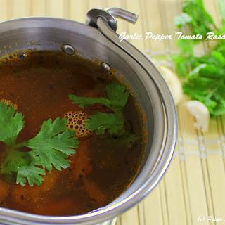 Poondu thakkali rasam / Garlic Tomato Rasam