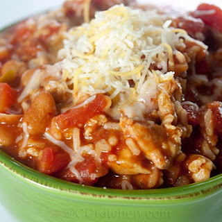 Slow Cooker Fiesta Chicken With Rice And Beans.