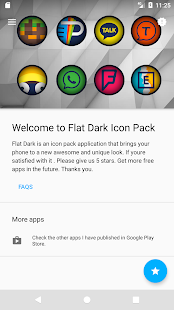 Flat Dark - Icon Pack Screenshot