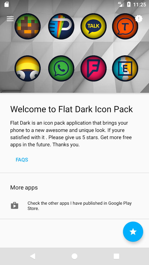 Flat Dark - Icon Pack- screenshot