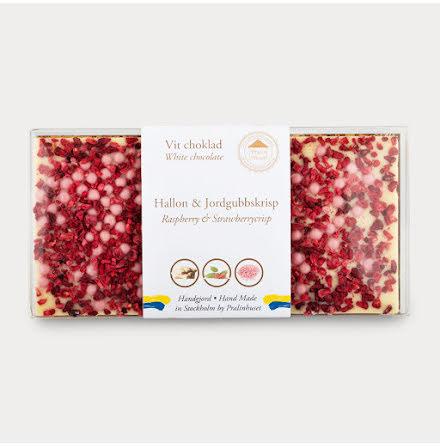 Vit choklad - Hallon & Jordgubbskrisp