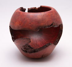 "Photo: Bill Long 4"" x 4"" natural edge bowl [manzanita root burl]"