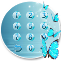 Butterfly blue gleam theme icon