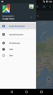 Karten Koordinaten Screenshot