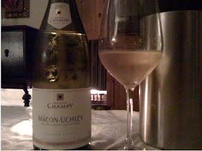Photo: The wonderful Chardonnay we had.