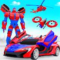 Police Robot Car Game: Transform Drone Robot Games icon