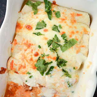 Adobo Chicken Enchiladas with Lemon Cream Sauce Recipe