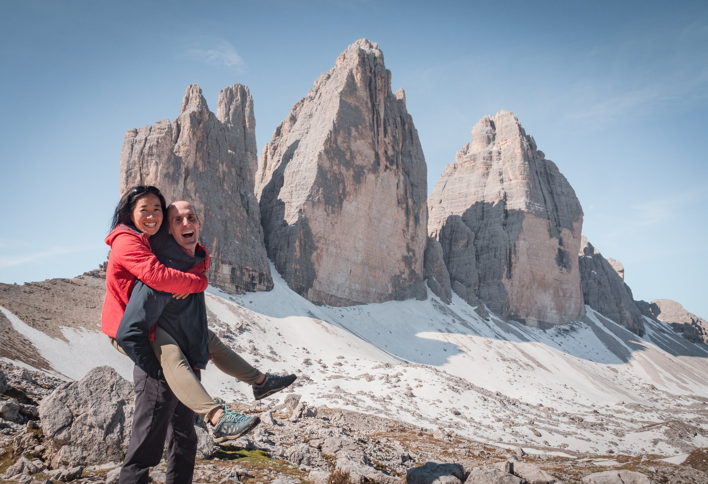 Tres Cime, one of the best scenic day hikes in the Dolomites