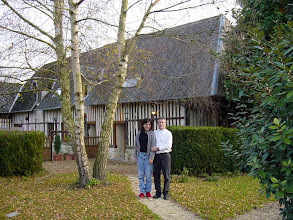 Photo: The other guest quarters, done in the half-timbered architecture typical of the region. Here, Kim and Rob check things out.