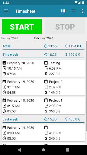 Timesheet - Time Tracker ss1