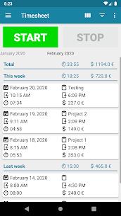 Timesheet – Time Tracker 2.0 (MOD + APK) Download 1