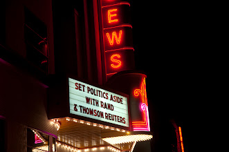 Photo: Participants gathered at Sony Pictures Studios in Culver City Thursday night to hear a series of three conversations on pressing public policy issues at the RAND Politics Aside event.