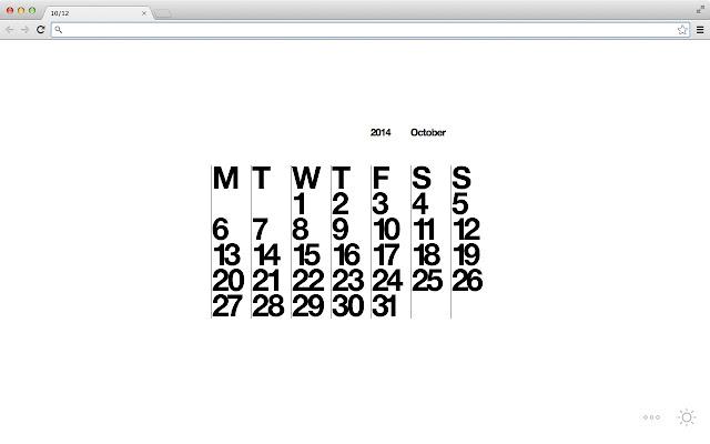 Stendig Calendar Tab