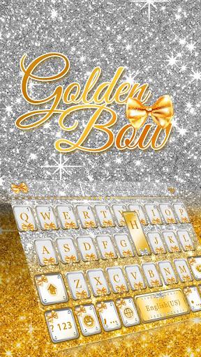 Gold Bow Keyboard theme screenshot