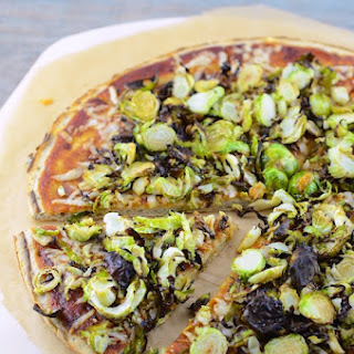 BBQ Cheddar Brussels Sprouts Pizza.