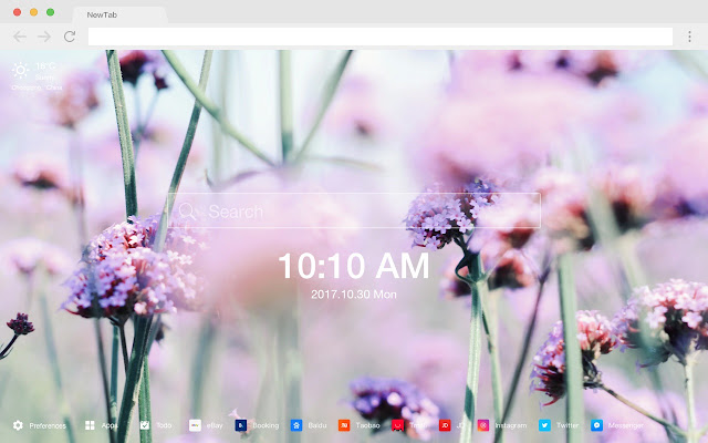 Lavender New Tab Page HD Scenery Theme